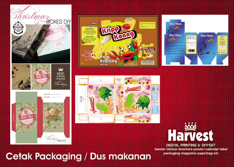 Cetak Packaging Kemasan Produk Harvest Percetakan Surabaya Packing Dus Makanan