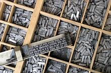 Cetakan Tulisan Mesin Cetak Pertama