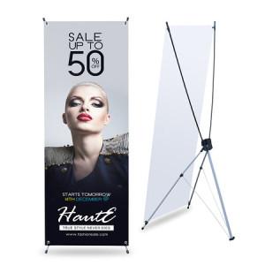 ukuran standing banner X banner